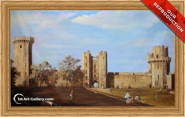 Warwick Castle 2 Painting by Giovanni Antonio Canal - Oil Reproduction