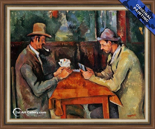Cardplayers 2 Painting by Paul Cezanne - Original Painting
