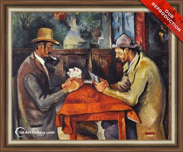 Cardplayers 2 Painting by Paul Cezanne - Oil Reproduction