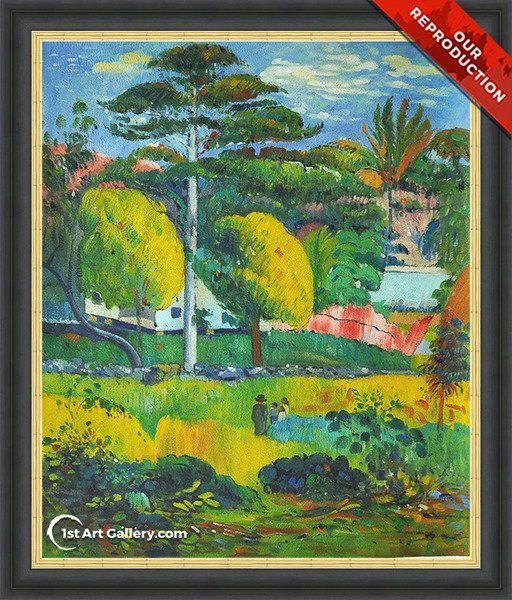 Landscape Painting by Paul Gauguin - Oil Reproduction