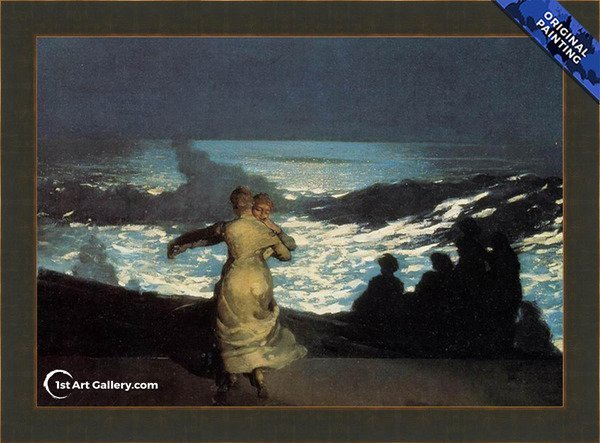 A Summer Night Painting by Winslow Homer - Original Painting
