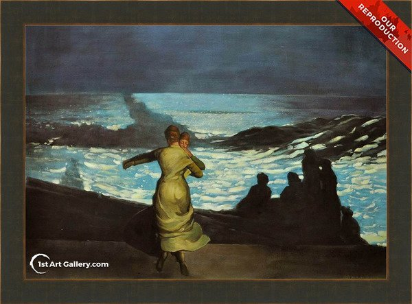 A Summer Night Painting by Winslow Homer - Oil Reproduction