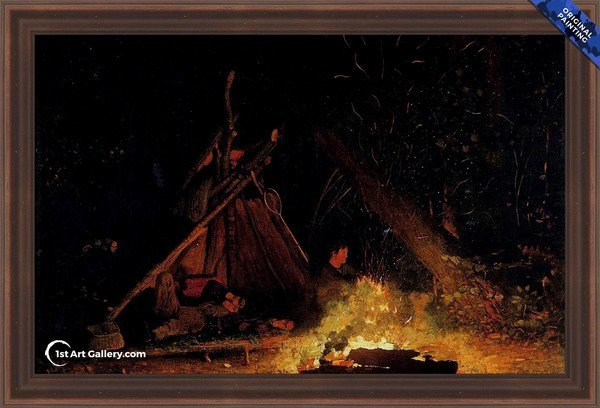 Camp Fire Painting by Winslow Homer - Oriignal Painting