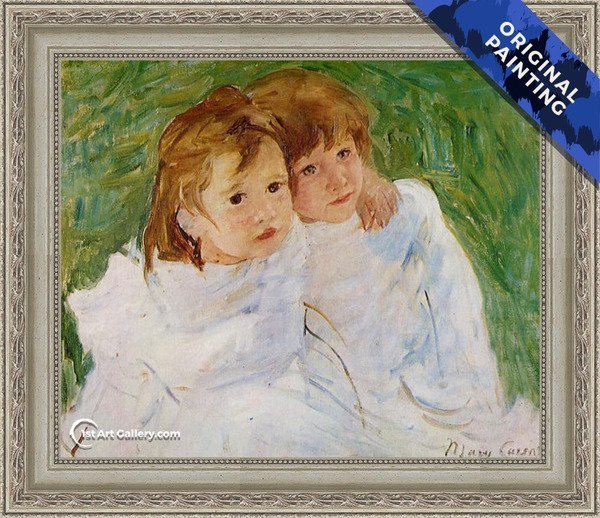 The Sisters, c.1885 Painting by Mary Cassatt - Original Painting