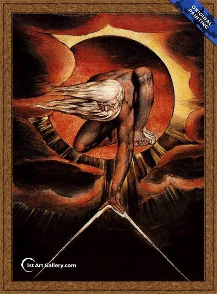 The Ancient of Days Painting by William Blake - Original Painting