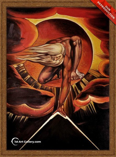 The Ancient of Days Painting by William Blake - Oil Reproduction