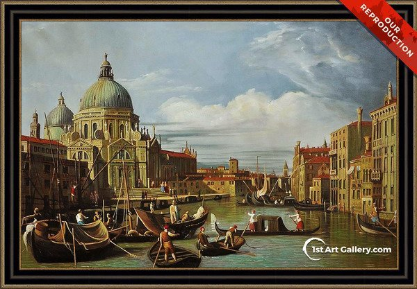 The Entrance to the Grand Canal, Venice, c.1730 Painting by (Giovanni Antonio Canal) Canaletto - Oil Reproduction