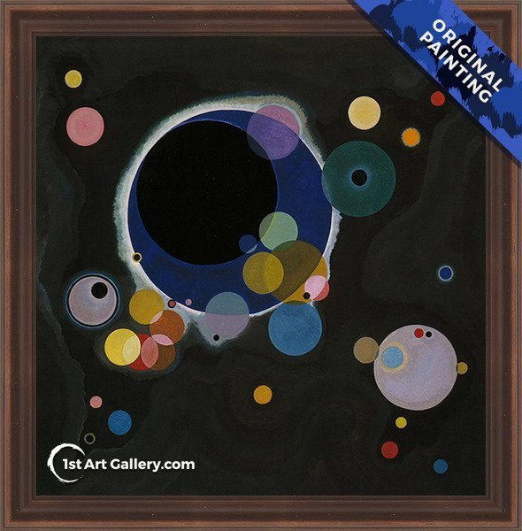 Several Circles Painting by Wassily Kandinsky - Original Painting