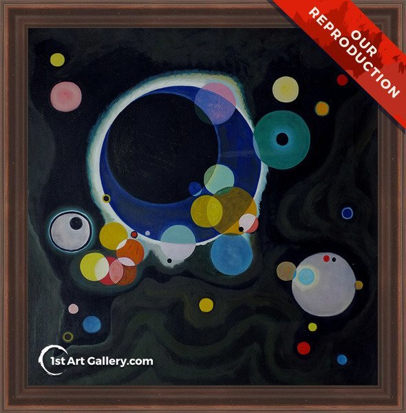 Several Circles Painting by Wassily Kandinsky - Oil Reproduction