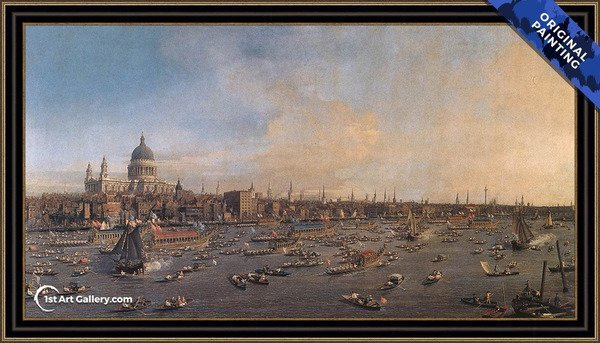 The Thames And The City Painting - Original Painting