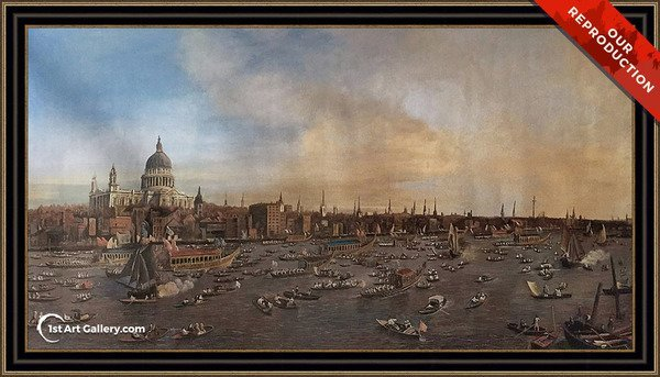 The Thames And The City Painting - Oil Reproduction