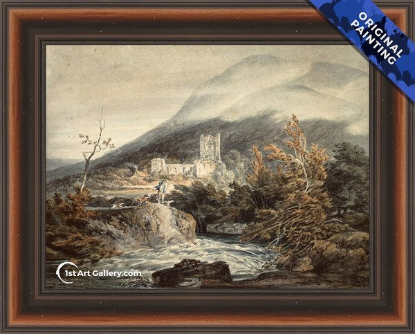 Llanthony Abbey, Monmouthshire Painting by Turner - Original Painting