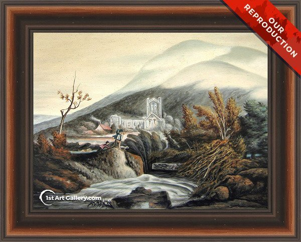 Llanthony Abbey, Monmouthshire Painting by Turner - Oil Reproduction
