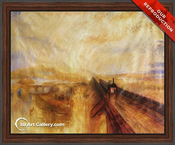 Rain, Steam and Speed The Great Western Railway Painting - Oil Reproduction