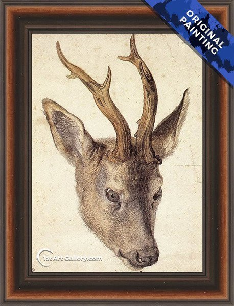 Head of a Stag 2 Painting by Albrecht Durer - Original Painting