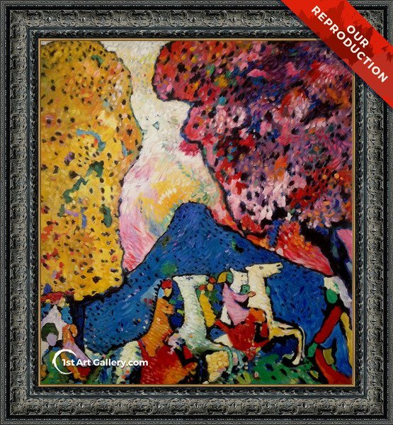 The Blue Mountain Painting by Wassily Kandinsky - Oil Reproduction