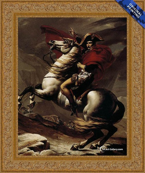 Bonaparte, Calm on a Fiery Steed, Crossing the Alps Painting - Original Painting