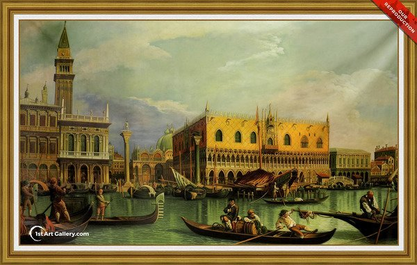 Piazzetta and the Doge's Palace from the Bacino di San Marco Painting - Oil Reproduction