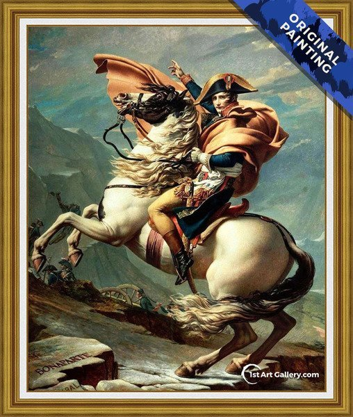 Napoleon Crossing the Alps Painting by Jacques Louis David - Original Painting