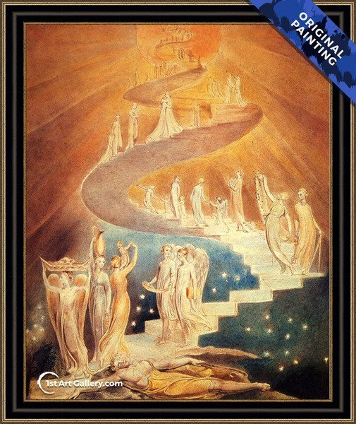 Jacob's Ladder Painting by William Blake - Original Painting