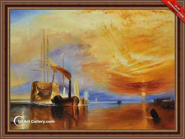 The Fighting 'Téméraire' tugged to her last Berth to be broken up Painting - Oil Reproduction