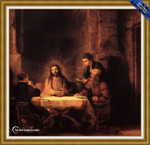 Supper at Emmaus 1648 Painting by Rembrandt Van Rijn - Original Painting