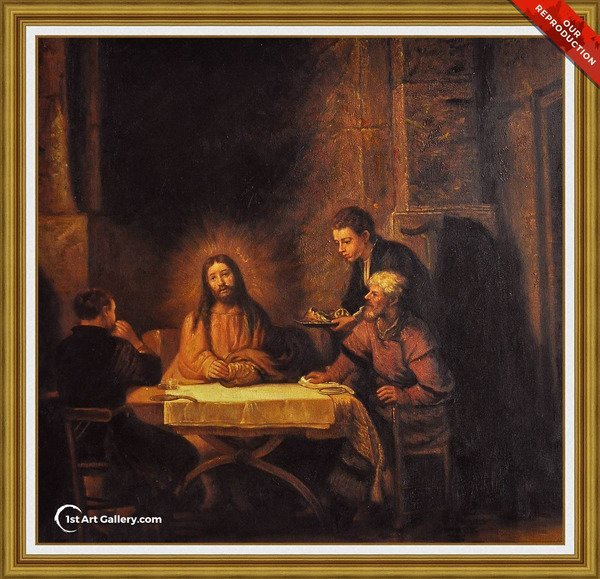 Supper at Emmaus 1648 Painting by Rembrandt Van Rijn - Oil Reproduction