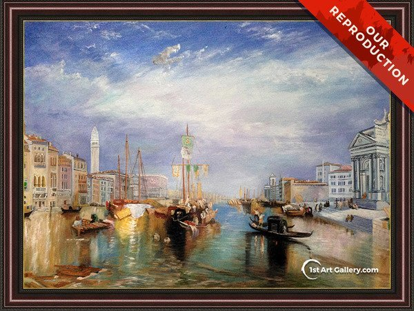 The Grand Canal, Venice 1835 Painting by Turner - Oil Reproduction