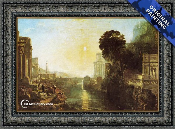 Dido Building Carthage (or The Rise of the Carthaginian Empire) Painting - Original Painting