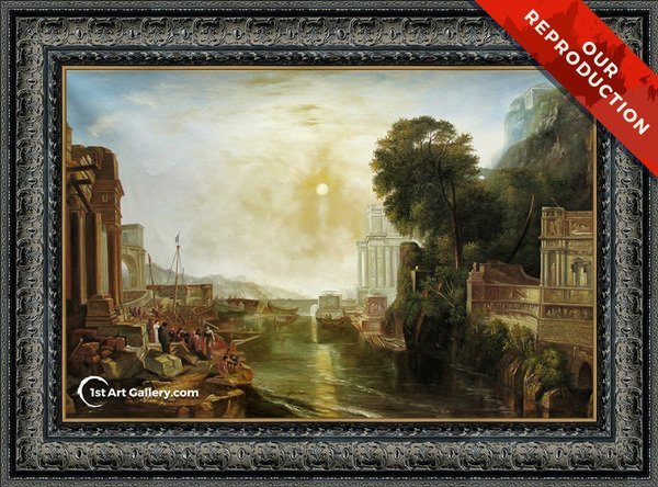 Dido Building Carthage (or The Rise of the Carthaginian Empire) Painting - Oil Reproduction