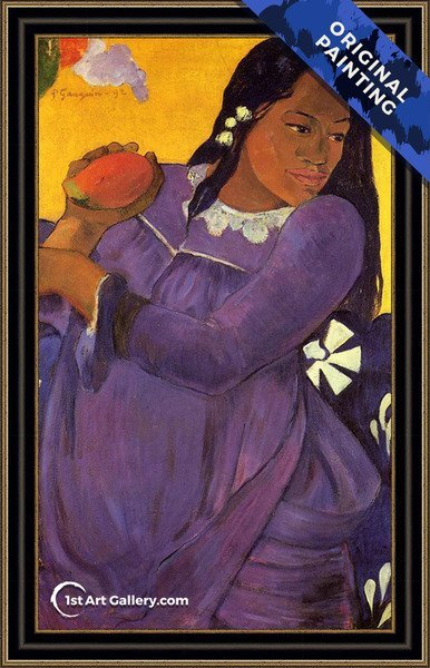 Vahine No Te Vi Aka Woman With A Mango Painting by Paul Gauguin - Original Painting