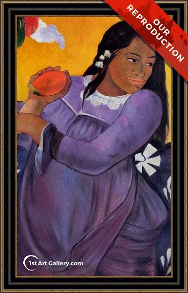 Vahine No Te Vi Aka Woman With A Mango Painting by Paul Gauguin - Oil Reproduction