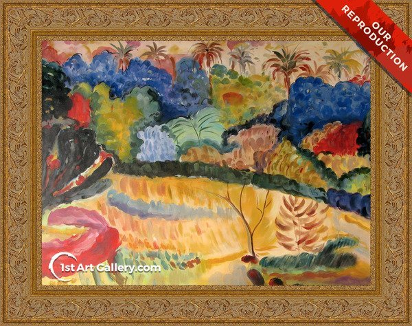 Tahitian Landscape Painting by Paul Gauguin - Oil Reproduction