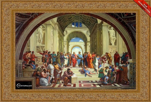 The School of Athens Painting by Raphael - Oil Reproduction
