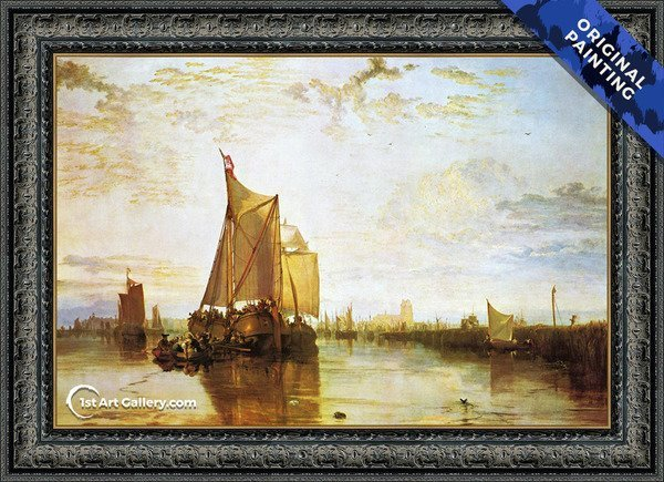 Dort The Dort Packet Boat From Rotterdam Bacalmed Painting - Original Painting