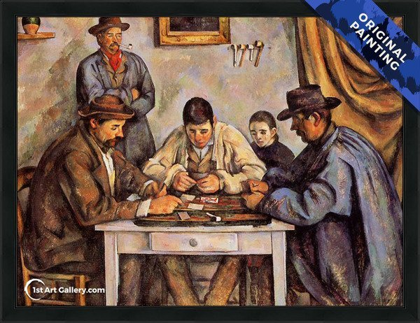 The Card Players2 Painting by Paul Cezanne - Original Painting