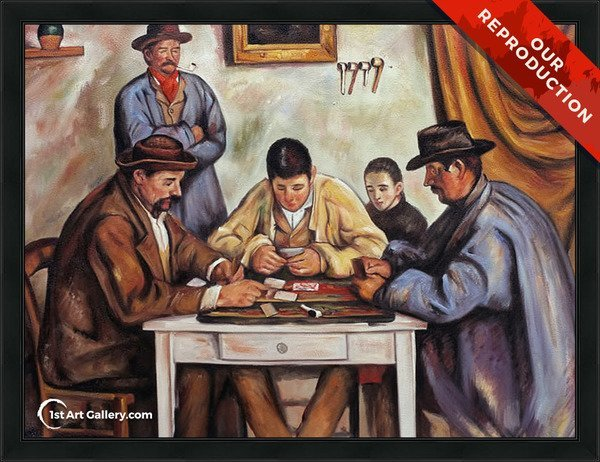 The Card Players2 Painting by Paul Cezanne - Oil Reproduction