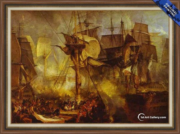 The Battle of Trafalgar Painting by Turner - Original Painting