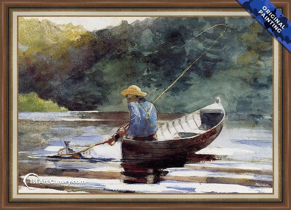 Boy Fishing Painting by Winslow Homer - Original Painting