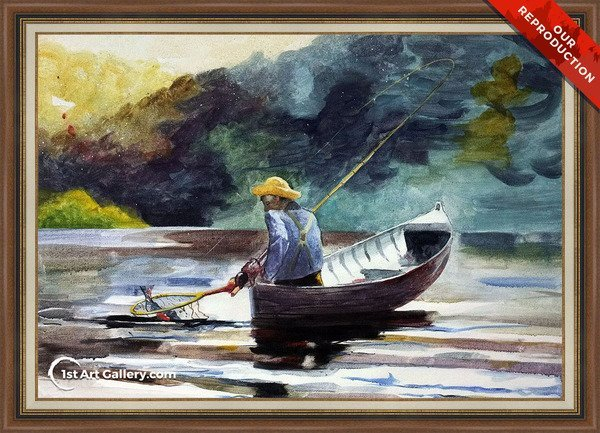 Boy Fishing Painting by Winslow Homer - Oil Reproduction