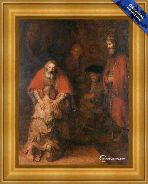 The Return of the Prodigal Son c. 1669 Painting by Rembrandt Van Rijn - Original Painting
