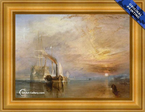 The Fighting Temeraire Tugged to her Last Berth to be Broken up - Original Painting