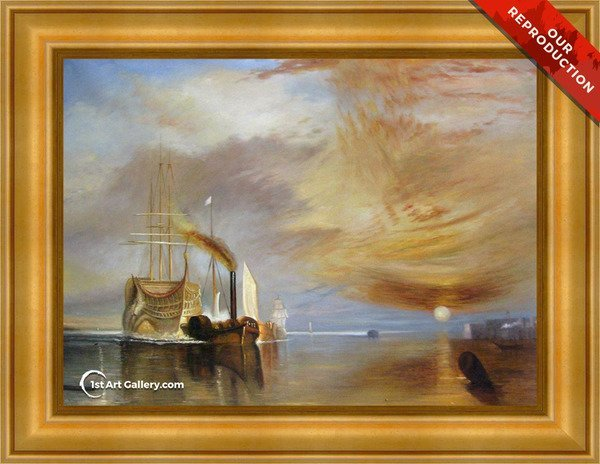 The Fighting Temeraire Tugged to her Last Berth to be Broken up - Oil Reproduction
