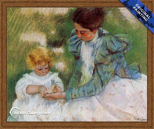 Mother Playing With Her Child Painting by Mary Cassatt - Original Painting