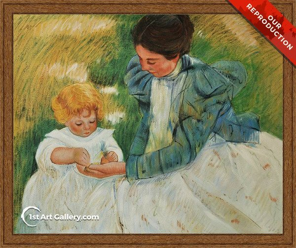 Mother Playing With Her Child Painting by Mary Cassatt - Oil Reproduction