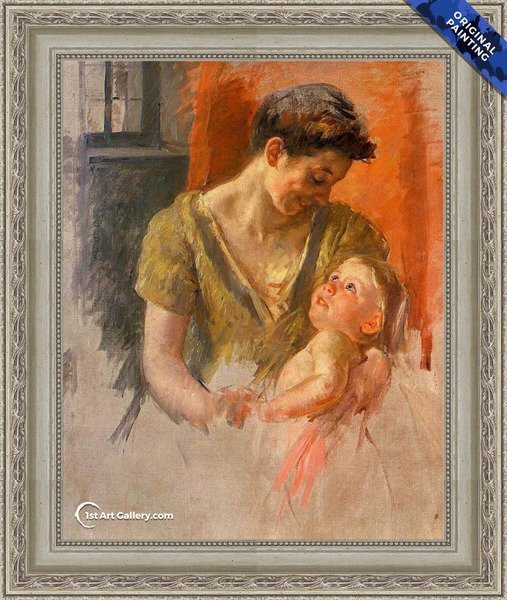 Mother And Child Smiling At Each Other Painting by Mary Cassatt - Original Painting