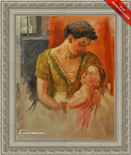 Mother And Child Smiling At Each Other Painting by Mary Cassatt - Oil Reproduction