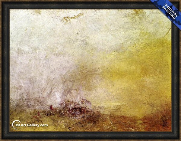 Sunrise with Sea Monsters Painting by Turner - Original Painting