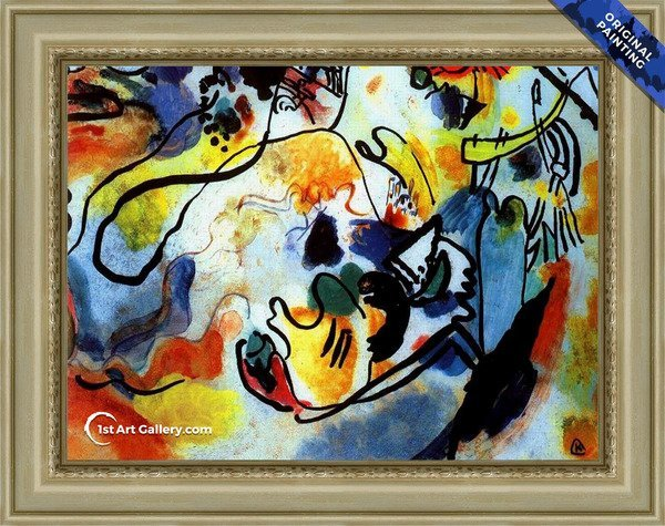 Last Judgement Painting by Wassily Kandinsky - Original Painting