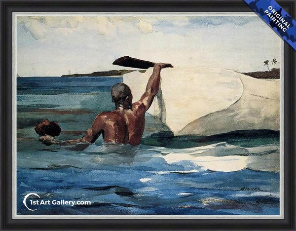 The Sponge Diver Painting by Winslow Homer - Original Painting